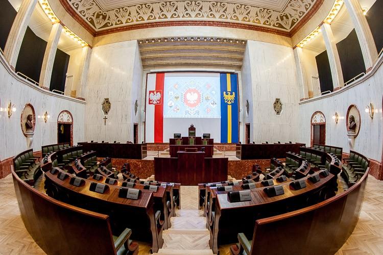 Sala Sejmu Śląskiego / fot. arch. UMWS Tomasz Żak